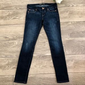 EXPRESS ankle low rise light distressed jeans size 2